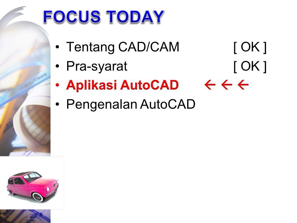 FOCUS TODAY Tentang CAD/CAM [ OK ] Pra-syarat [ OK ]